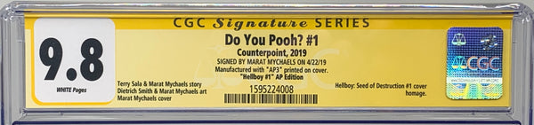 "Do You Pooh? #1 (2019) CGC 9.8 SS Marat Mychaels ""Hellboy #1""  Artist Proof (AP3)"