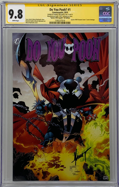 "Do You Pooh? #1 (2019) CGC 9.8 SS Marat Mychaels ""Spawn #300 Capullo"" Artist Proof (AP5)"