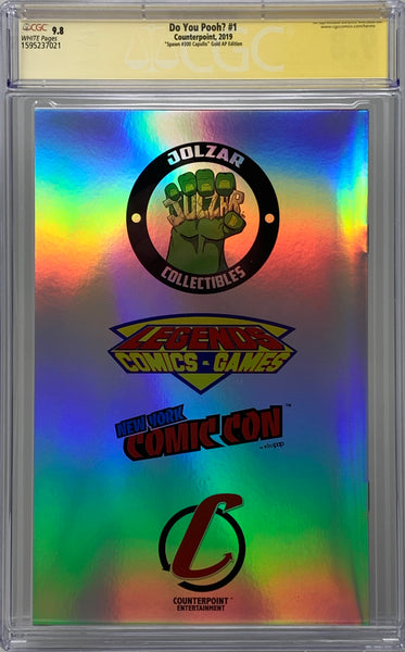 "Do You Pooh? #1 (2019) CGC 9.8 SS Marat Mychaels ""Spawn #300 Capullo"" Gold Artist Proof (AP5)"