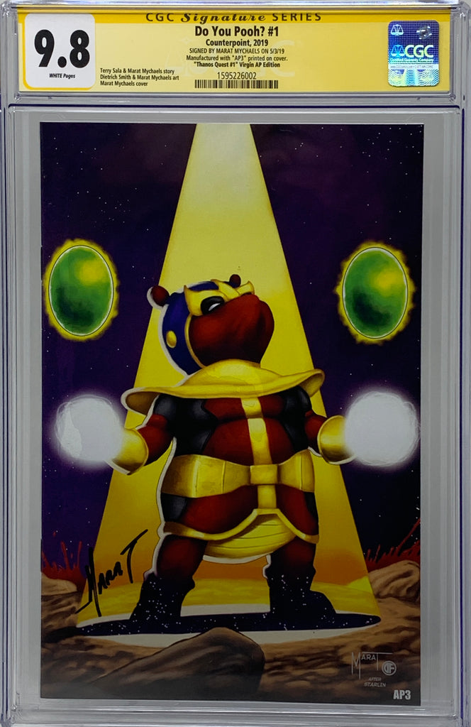 "Do You Pooh? #1 (2019) CGC 9.8 SS Marat Mychaels ""Thanos Quest #1"" Virgin (AP3)"