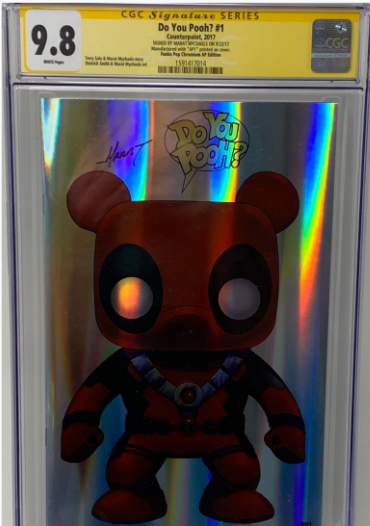 "Do you Pooh? #1 (2017) CGC 9.8 SS Marat Mychaels ""Funko Pop"" Chromium Edition Artist Proof ( AP1)"