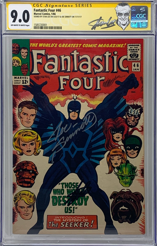 Fantastic Four #46 CGC 9.0 SS Stan Lee & Joe Sinnott!