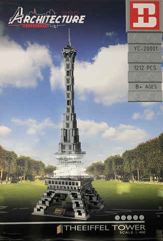 The Eiffel Tower 1/400 Scale MOC Happy Build YC-20001 Architecture Series(LEGO STYLE MODEL)