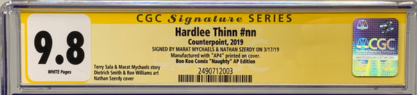 "Hardlee Thinn #nn (2019) CGC 9.8 SS Signed By Marat Mychaels Boo Koo Comix ""Naughty"" (AP4)"