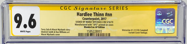 "Hardlee Thinn #nn (2019) CGC 9.6 SS Signed By Marat Mychaels WonderCon ""Wolverine #1"" (AP3)"