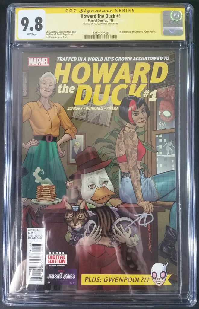 Howard the Duck #1 CGC 9.8 SS by Joe Quinones Cover Artist