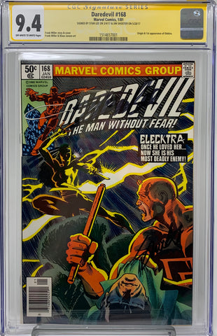 Daredevil #168 CGC 9.4 Signature Series Yellow Label Signed by Stan Lee and Jim Shooter