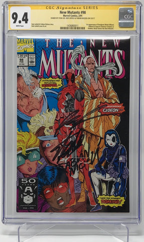 The New Mutants #98 CGC 9.4 3 x Signed Stan Lee, Rob Liefeld And Fabian Nicieza