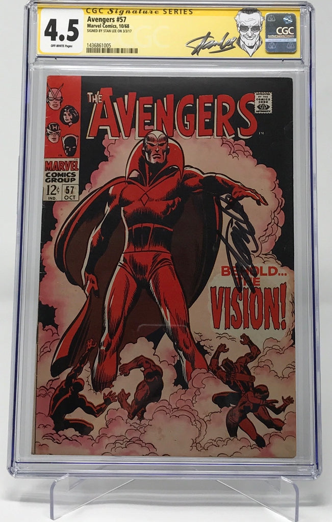 The Avengers #57 CGC 4.5 SS Stan Lee