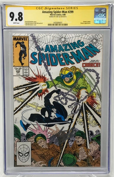 Amazing Spider Man #299 CGC 9.8 SS Lee