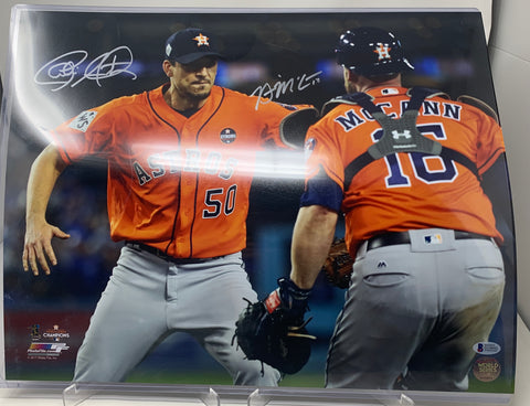 Charlie Morton & Brian McCann Photo As Well As Signed By Both BAS Certificate Number : D10092
