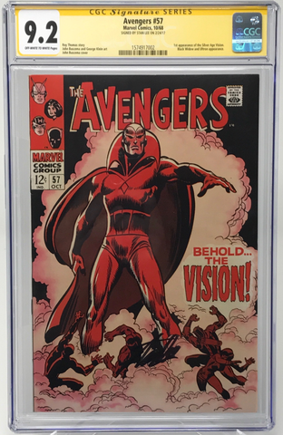 "Avengers #57 CGC 9.2 SS Signed by Stan ""The Man"" Lee"