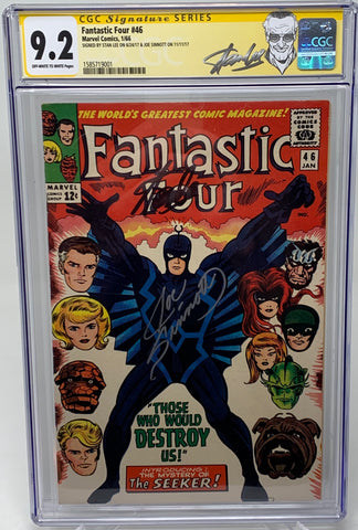 Fantastic Four #46 CGC SS 9.2 Double signed by Stan Lee and Joe Sinnott 1st Appearance Black Bolt