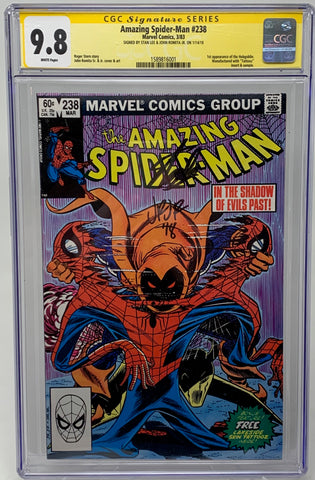 Amazing Spider-man 238 CGC SS 9.8 Double signed by Stan Lee and John Romita Jr. - First Appearance of Hobgoblin