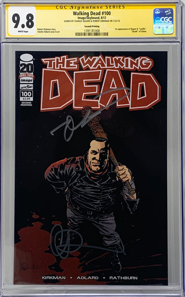 The Walking Dead #100 2nd Print Dual Signed CGC 9.8 SS Robert Kirkman & Charlie adlard