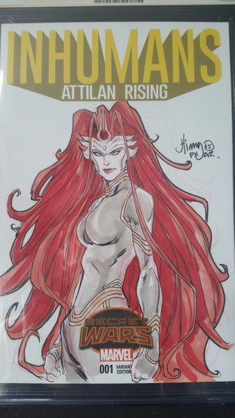 Inhumans Attilan Rising #1 Sketch Edtion CGC 9.8 SS Sketch