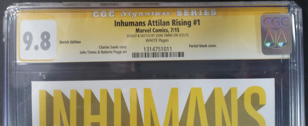 Inhumans Attilan Rising #1 Sketch Edtion CGC 9.8 SS Top
