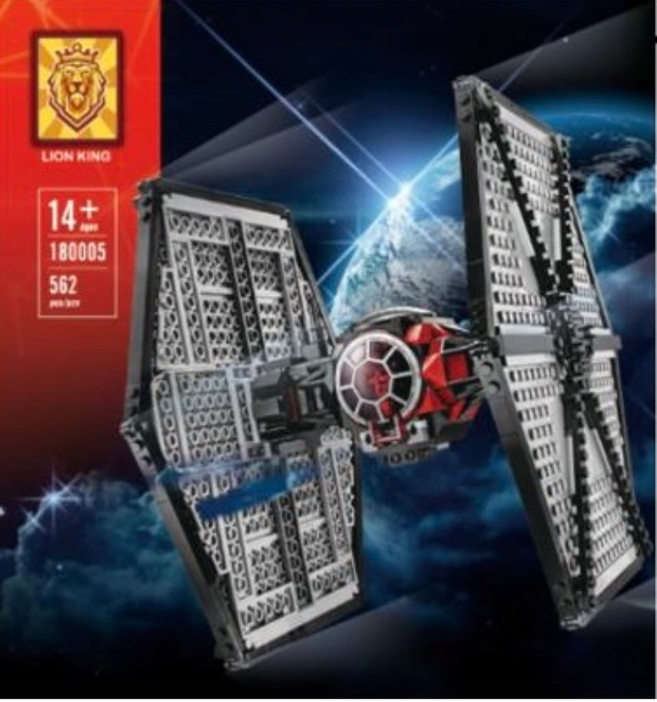 Star Wars Tie Fighter MOC 75101 King 180005 Ships From USA