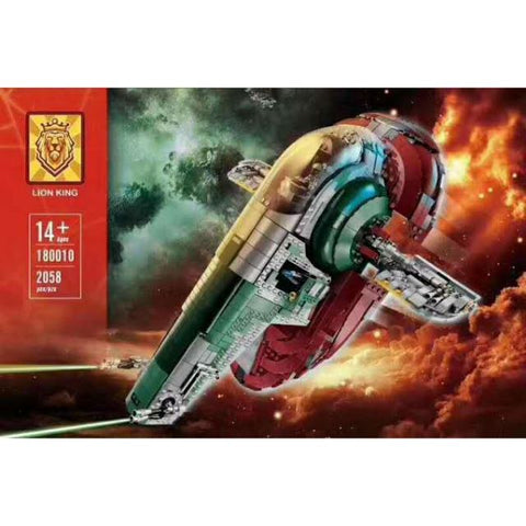 Star Wars Slave I MOC KING 180010 UCS MOC 75060 Ships From USA