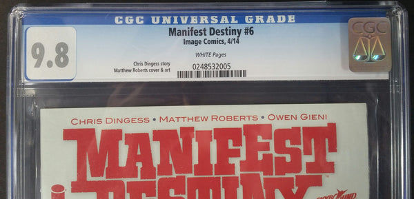 Manifest Destiny #6 CGC 9.8 Top