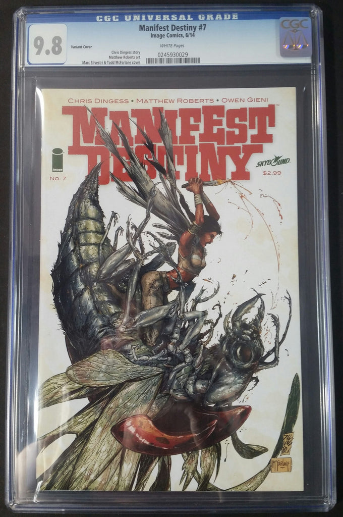 Manifest Destiny #7 Variant Edtion CGC 9.8 Front