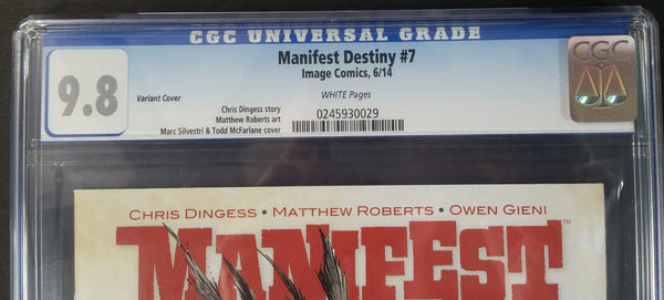 Manifest Destiny #7 Variant Edtion CGC 9.8 Top