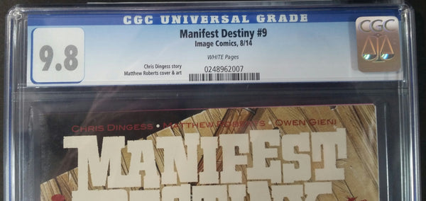 Manifest Destiny #9 CGC 9.8 Top