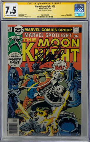 Marvel Spotlight #29 CGC 7.5 SS Signed by Stan Lee