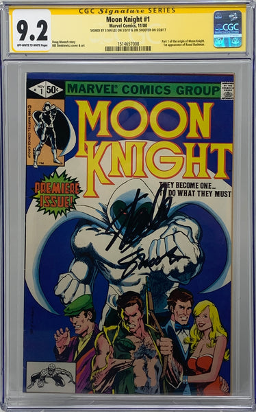 Moon Knight #1 CGC 9.2 SS Signed by Stan Lee/Jim Shooter
