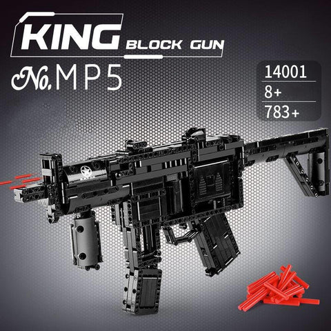 MP5 Block Gun Mould King 14001 (LEGO STYLE WORKING MODEL)
