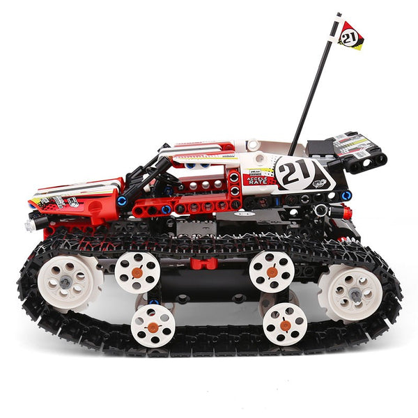 Red Tank Tracked Racer Powered By Technique - Mould King 13024 (LEGO STYLE MOTORIZED MODEL)