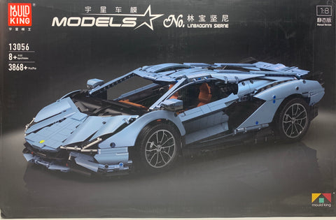Linbaoginni Sierne MOC Super Car Lamborghini Sian 1/8 Scale Mould King 13056 (LEGO STYLE MOTORIZED & STATIC MODEL)