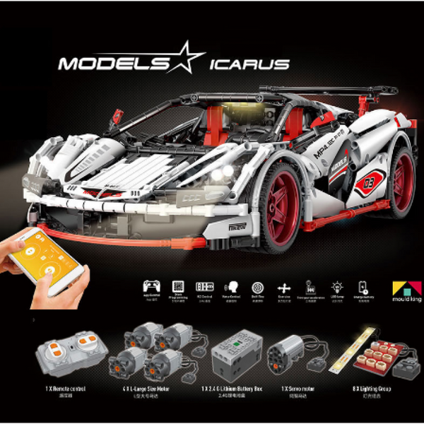 Icarus 1/10 Scale Mould King 13067 (LEGO STYLE MOTORIZED MODEL) N