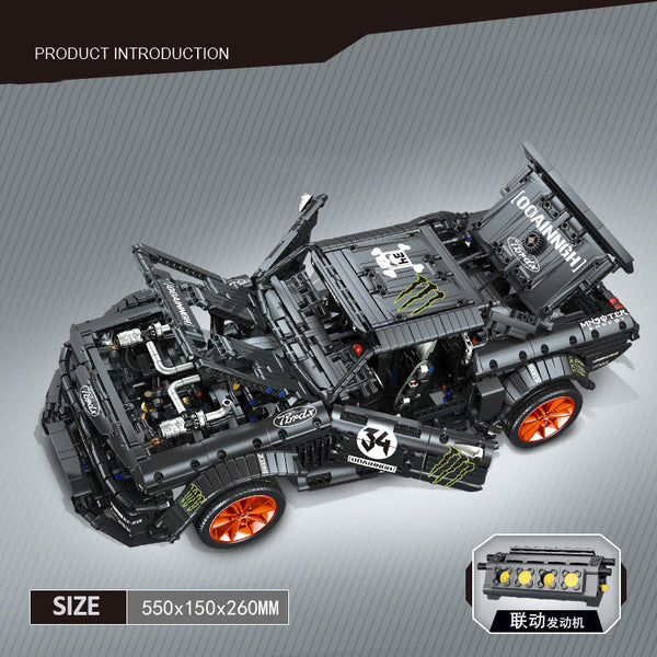 Mustang MOC Mustang Super Car Mould King 13108(LEGO STYLE MOTORIZED MODEL) N