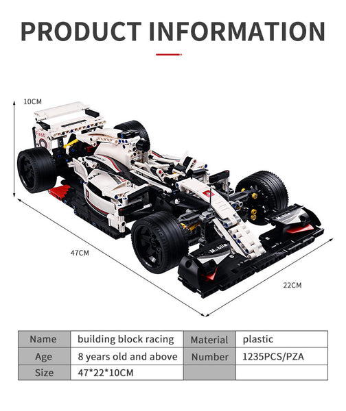 F1 Racing Car Mould King 13117 Brick Set (LEGO STYLE MODEL)