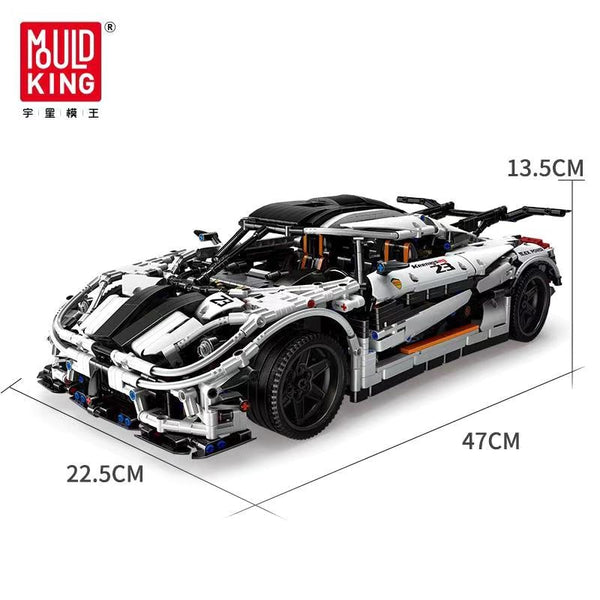 Keonigesgg MOC Super Car 1/8 Scale Mould King 13120(LEGO STYLE STATIC MODEL)