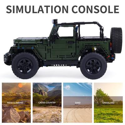 Army Green Jeep Mould King 13124(LEGO STYLE MOTORIZED & STATIC MODEL)N
