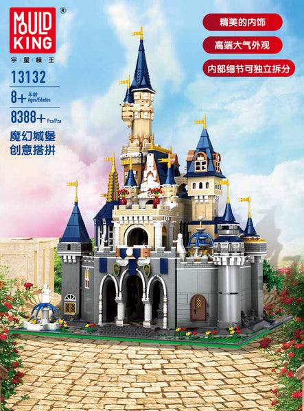 Mould King 13132 Dream Castle MOC Disney Castle Building Block Toy Set (LEGO STYLE MODEL)