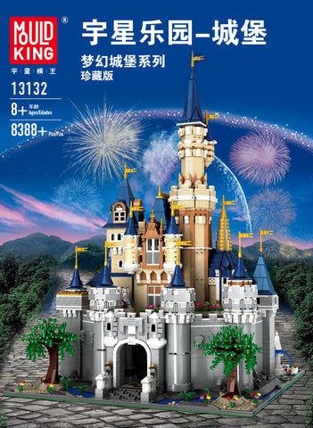 Dream Castle MOC Disney Castle Building Block Toy Set Mould King 13132 (LEGO STYLE MODEL)