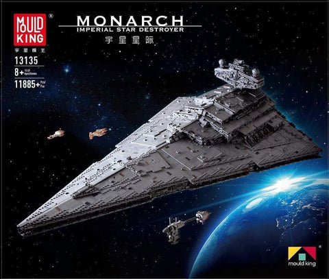 Mould King 13135 Star Wars Imperial Star Destroyer Monarch Building Blocks Toy Set (LEGO STYLE MODEL)
