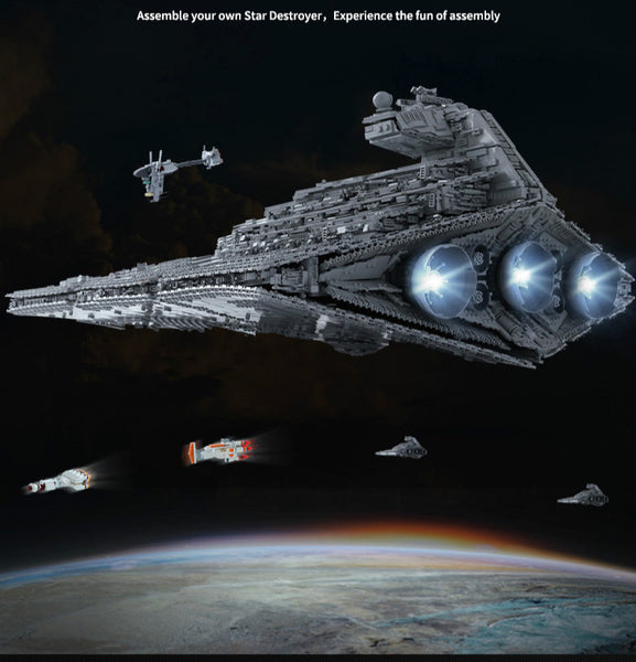 Star Wars Imperial Star Destroyer Monarch Building Blocks Toy Set Mould King 13135 (LEGO STYLE MODEL)