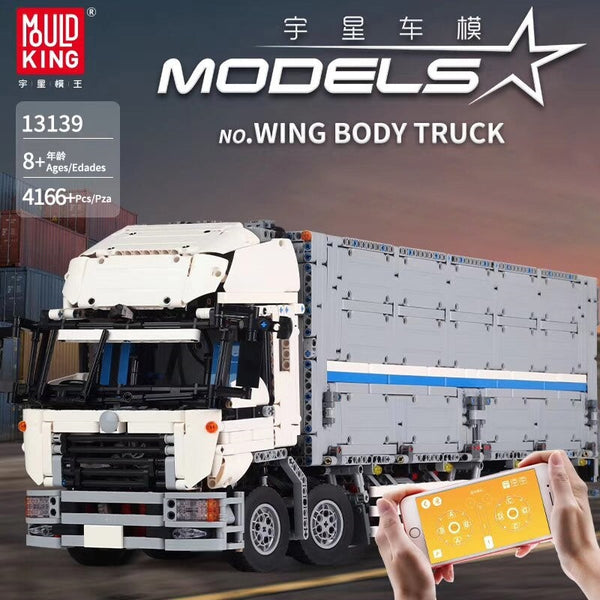 Wing Body Truck 18 Wheeler with Motor Mould King 13139 (LEGO STYLE MOTORIZED MODEL)