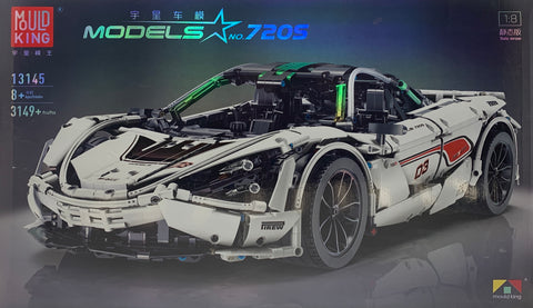 No-720S MOC McLaren 720S Supercar Mould King 13145 (LEGO STYLE MOTORIZED AND STATIC MODEL)