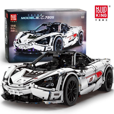 No-720S MOC McLaren 720S Supercar Mould King 13145(LEGO STYLE MOTORIZED AND STATIC MODEL)