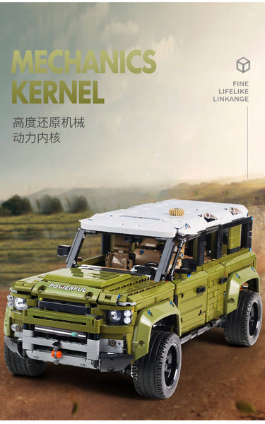Mould King 13175 Land Rover 4 Door Static Version (LEGO STYLE MODEL)