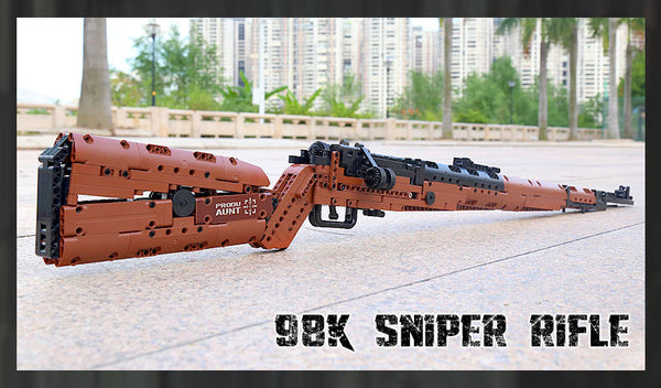 Mauser 98K Sniper Rifle Block Gun Mould King 14002 (LEGO STYLE WORKING MODEL)