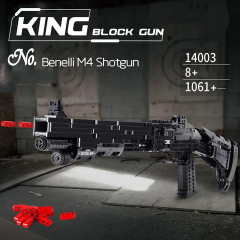 Mould King 14003 Benelli M4 Shotgun Block Gun (LEGO STYLE WORKING MODEL)