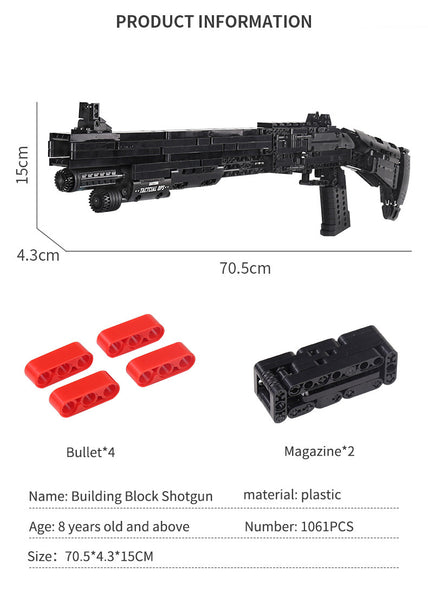 Benelli M4 Shotgun Block Gun Mould King 14003 (LEGO STYLE WORKING MODEL)