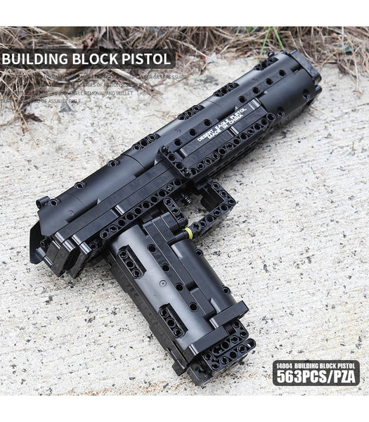 Desert Eagle Pistol Block Gun Mould King 14004 (LEGO STYLE WORKING MODEL)
