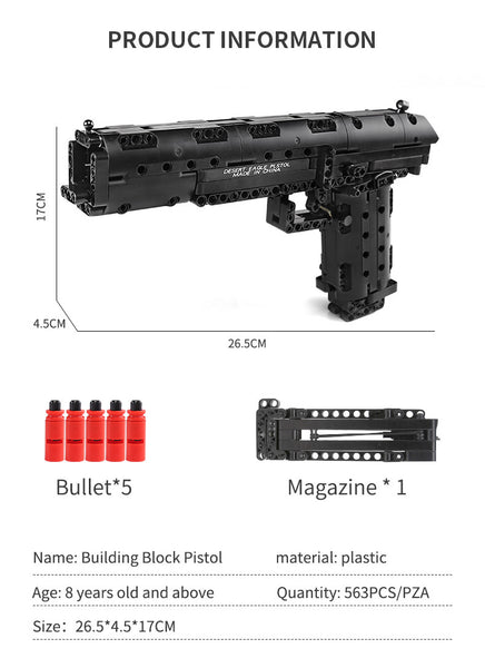 Mould King 14004 Desert Eagle Block Gun (LEGO STYLE WORKING MODEL)